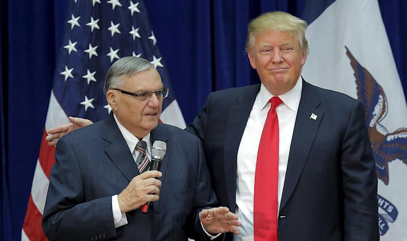 Then-Sheriff Joe Arpaio campaigned for Donald Trump last year.