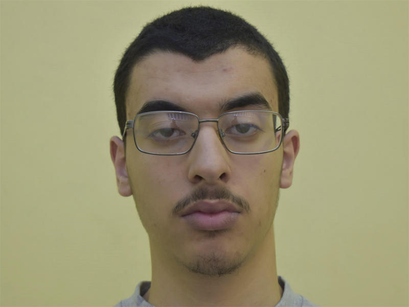 Undated file photo issued by Greater Manchester Police, of Hashem Abedi, younger brother of the Manchester Arena bomber Salman Abedi. The brother of the suicide bomber who set off an explosion that killed 22 people and injured hundreds at a 2017 Ariana Grande concert in Manchester, England, has been sentenced Thursday Aug. 20, 2020, to a minimum of 55 years. (Greater Manchester Police via AP)