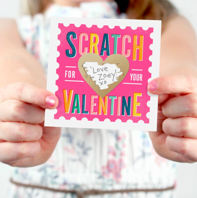 "<p>Create some good old V-Day intrigue by passing out a scratch-off card with a concealed love note.</p><br><br><strong>Paperie</strong> Scratch-Off Valentines Card Pink, $16, available at <a href=""https://www.target.com/p/scratch-off-valentines-card-pink-inklings-paperie/-/A-54356591"" rel=""nofollow noopener"" target=""_blank"" data-ylk=""slk:Target"" class=""link rapid-noclick-resp"">Target</a>"