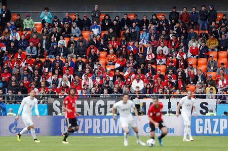 Soccer Football - World Cup - Group A - Egypt vs Uruguay - Ekaterinburg Arena, Yekaterinburg, Russia - June 15, 2018 General view of empty seats during the match. Picture taken June 15, 2018. REUTERS/Andrew Couldridge