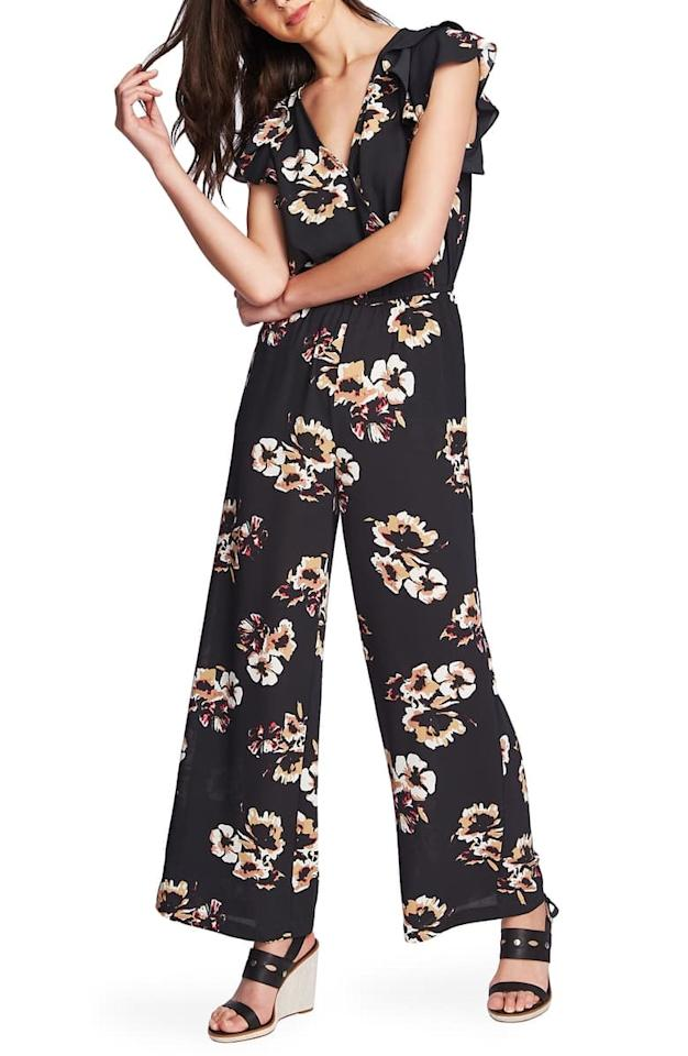 """<p>Wear this <a href=""""https://www.popsugar.com/buy/1State-Mirage-Wrap-Front-Flounce-Sleeve-Jumpsuit-479565?p_name=1.State%20Mirage%20Wrap%20Front%20Flounce%20Sleeve%20Jumpsuit&retailer=shop.nordstrom.com&pid=479565&price=71&evar1=fab%3Aus&evar9=45974897&evar98=https%3A%2F%2Fwww.popsugar.com%2Fphoto-gallery%2F45974897%2Fimage%2F46543140%2F1State-Mirage-Wrap-Front-Flounce-Sleeve-Jumpsuit&list1=nordstrom%2Cfall%20fashion%2Csale%2Csale%20shopping&prop13=api&pdata=1"""" rel=""""nofollow"""" data-shoppable-link=""""1"""" target=""""_blank"""" class=""""ga-track"""" data-ga-category=""""Related"""" data-ga-label=""""https://shop.nordstrom.com/s/1-state-mirage-wrap-front-flounce-sleeve-jumpsuit/5418957?origin=category-personalizedsort&amp;breadcrumb=Home%2FSale%2FWomen%2FNew%20Markdowns&amp;color=desert%20sand"""" data-ga-action=""""In-Line Links"""">1.State Mirage Wrap Front Flounce Sleeve Jumpsuit</a> ($71, originally $119) with strappy heels.</p>"""