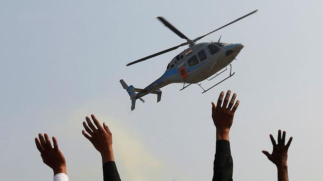 The helicopter carrying five ONGC employees lost contact with the ATC around 10:35am.