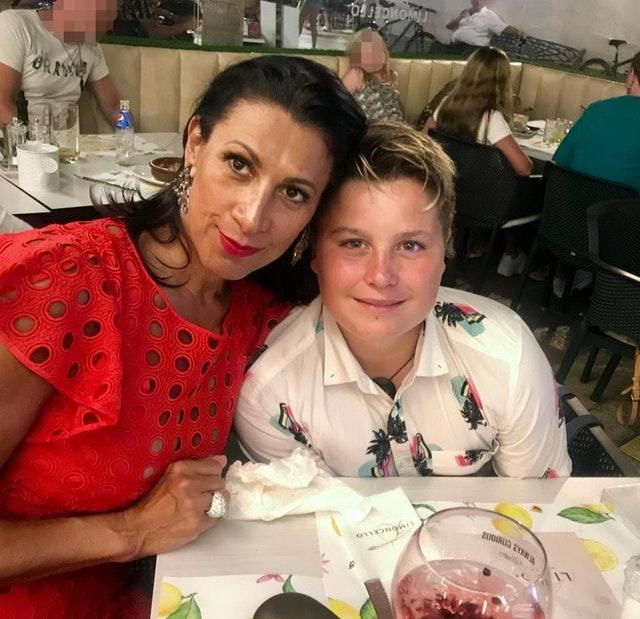 Lucas Briscoe with his mother Nicola Marshall