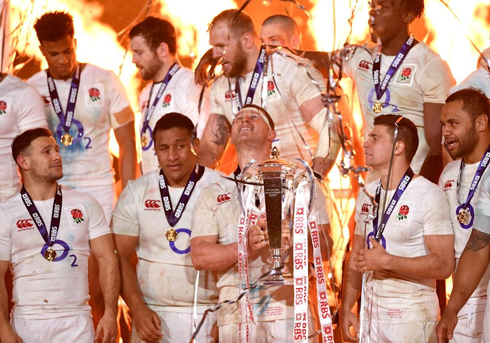 James Haskell (top centre) admitted it was difficult to celebrate after a defeat: Getty
