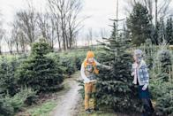 """<p><strong>Warwick, New York</strong> (Starting November 29)</p><p>There's so much going on at<strong> <a href=""""http://emmerichtreefarm.com/"""" rel=""""nofollow noopener"""" target=""""_blank"""" data-ylk=""""slk:Emmerich Tree Farm"""" class=""""link rapid-noclick-resp"""">Emmerich Tree Farm</a></strong>, it's almost impossible to count the number of activities available. From wagon rides to help deliver your tree to food truck vendors selling hot dogs and cider donuts, you'll be anything but bored here. Before you go, they provide a complimentary handmade wooden ornament for each tree purchased. Oh, and you should definitely consider it for your wedding venue. </p>"""
