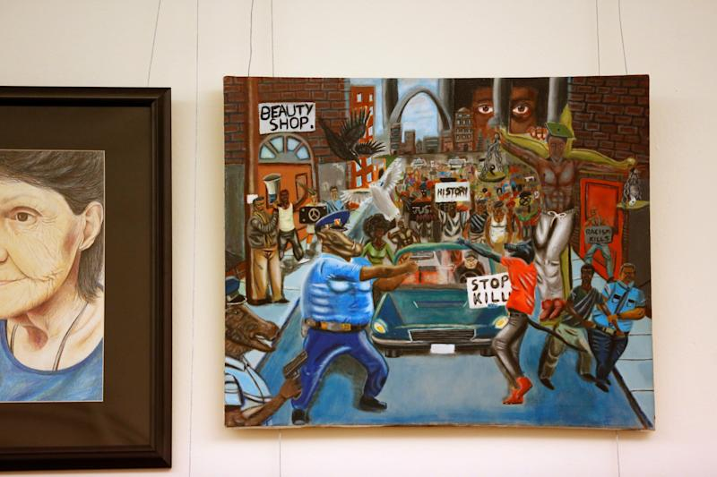 Congressional Black Caucus Returns 'Pig Cop' Painting To Capitol