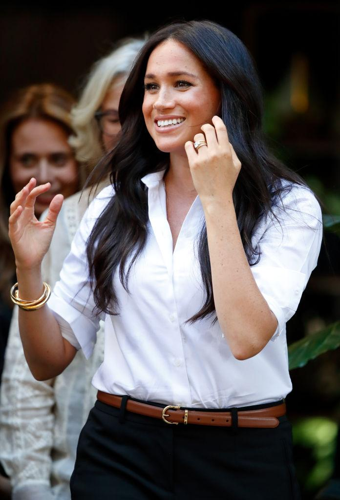 The Duchess of Sussex wore the ring to launch her Smart Works collection [Photo: Getty]