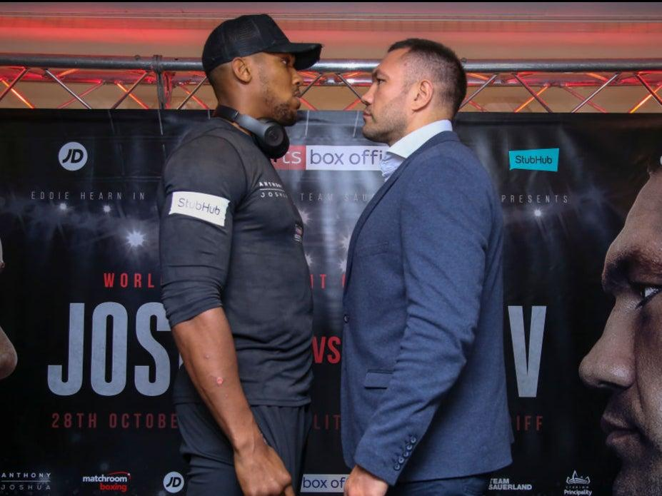 <p>Anthony Joshua fights Kubrat Pulev this month</p>AFP via Getty Images
