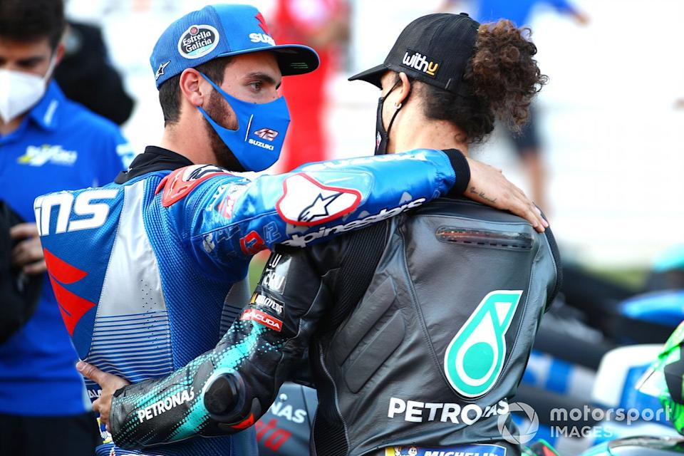 "Alex Rins, Team Suzuki MotoGP, Franco Morbidelli, Petronas Yamaha SRT<span class=""copyright"">Gold and Goose / Motorsport Images</span>"