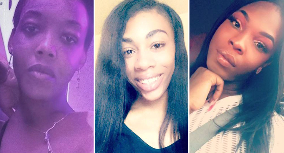 """From left, Michelle """"Tameka"""" Washington, Claire Legato and Muhlaysia Booker, all murdered within days of each other. (Photo: Facebook)"""