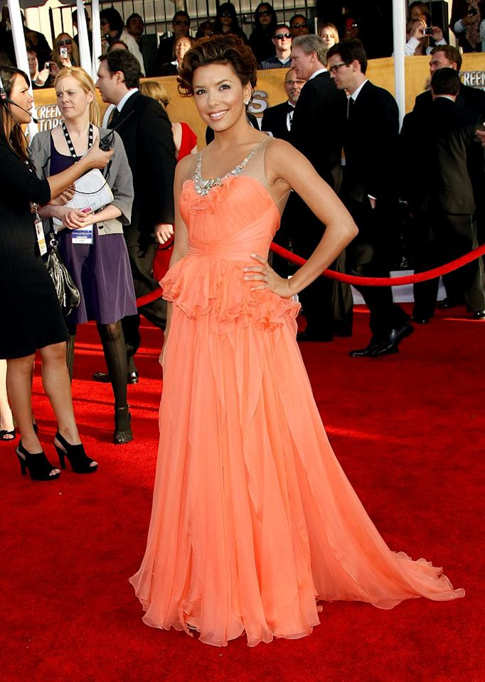 "<a href=""/eva-longoria/contributor/651519"">Eva Longoria-Parker</a> arrives at the <a href=""/the-15th-annual-screen-actors-guild-awards/show/44244"">15th Annual Screen Actors Guild Awards</a> held at the Shrine Auditorium on January 25, 2009 in Los Angeles, California."