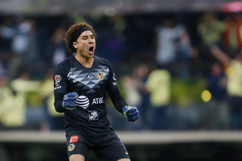 MEXICO CITY, MEXICO - DECEMBER 29: Guillermo Ochoa goalkeeper of America celebrates the second goal of his team later nullifyied by the VAR during the Final second leg match between America and Monterrey as part of the Torneo Apertura 2019 Liga MX at Azteca Stadium on December 29, 2019 in Mexico City, Mexico. (Photo by Mauricio Salas/Jam Media/Getty Images)