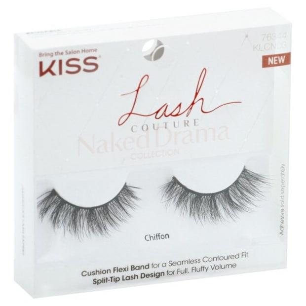 """<p>Kiss Lash Couture Naked Drama Lashes in Chiffon, $6.79, <a href=""""https://shop-links.co/1710689270020073107"""" rel=""""nofollow noopener"""" target=""""_blank"""" data-ylk=""""slk:available here"""" class=""""link rapid-noclick-resp"""">available here</a>.</p>"""