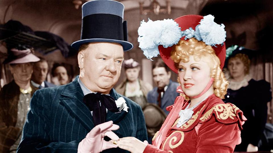 """W.C. Fields and Mae West in 1940's """"My Little Chickadee"""" - Credit: Courtesy Everett Collection"""