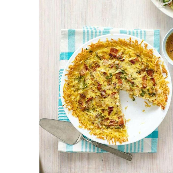 """<p>This savory quiche is the breakfast mash-up of Dad's dreams.</p><p><a href=""""https://www.womansday.com/food-recipes/food-drinks/recipes/a54432/quiche-lorraine-with-hash-brown-crust-recipe/"""" rel=""""nofollow noopener"""" target=""""_blank"""" data-ylk=""""slk:Get the Quiche Lorraine With Hash Brown Crust recipe."""" class=""""link rapid-noclick-resp""""><em>Get the Quiche Lorraine With Hash Brown Crust recipe.</em></a></p>"""