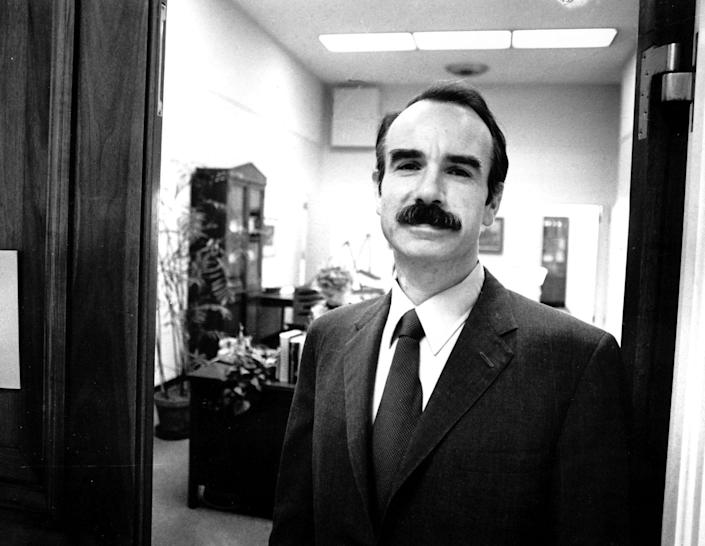 <p>G. Gordon Liddy, one of the seven convicted Watergate conspirators, arrives at the House Armed Services subcomittee in Washington, D.C., on July 20, 1973, to testify. (Photo: AP) </p>