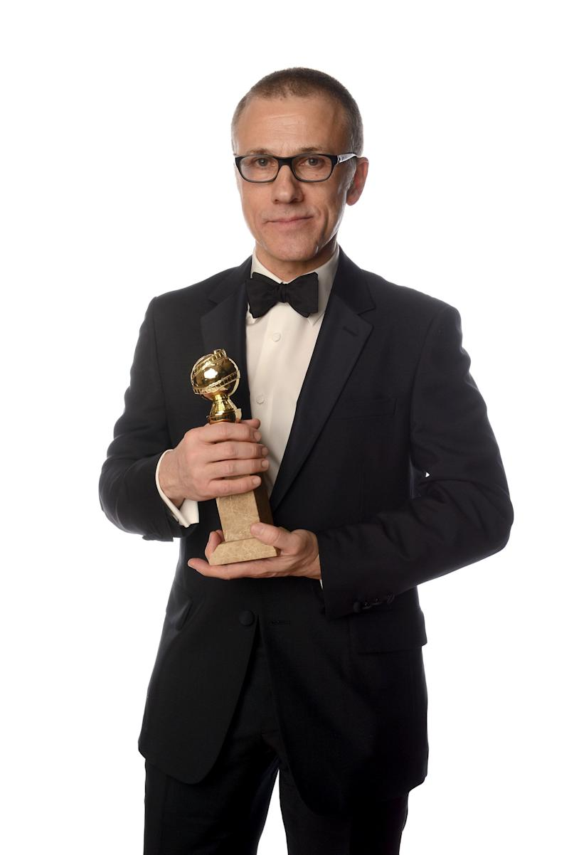 BEVERLY HILLS, CA - JANUARY 13: Actor Christoph Waltz, winner of the Best Performance by an Actor In A Supporting Role in a Motion Picture for 'Django Unchained' poses for a portrait at the 70th Annual Golden Globe Awards held at The Beverly Hilton Hotel on January 13, 2013 in Beverly Hills, California. (Photo by Dimitrios Kambouris/Getty Images)