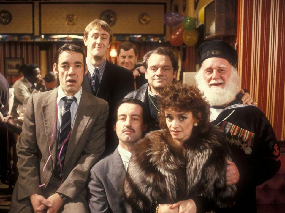 The 'Only Fools and Horses' cast in the 'Nag's Head' (PA)