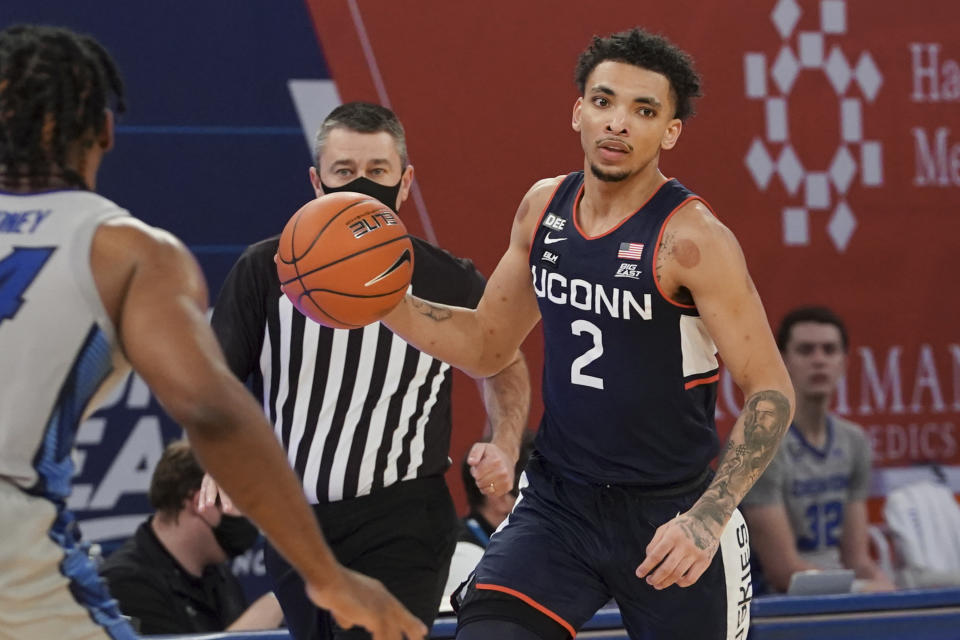 James Bouknight made a huge move up draft boards after workouts and interviews over the last month. (Photo by Porter Binks/Getty Images)