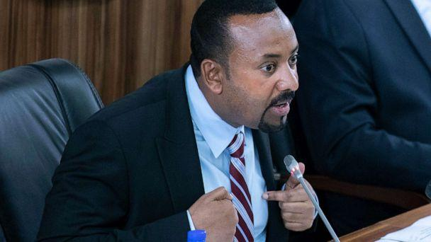PHOTO: Ethiopian Prime Minister Abiy Ahmed addresses members of parliament at the Parliament building, in Addis Ababa, Ethiopia, Oct. 22, 2019. (Mulugeta Ayene/AP)