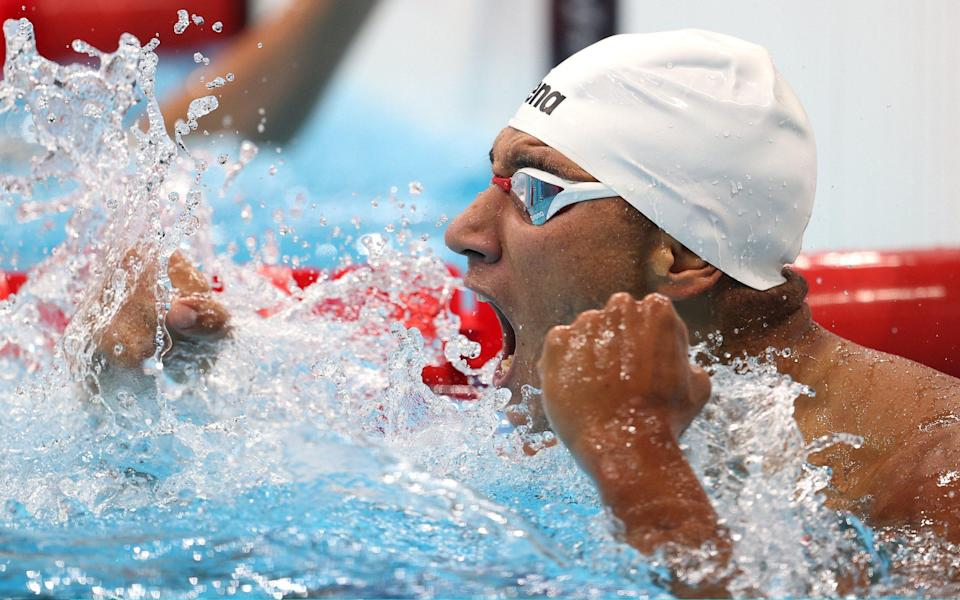 Ahmed Hafnaoui: How an 18-year-old Tunisian in lane eight smashed his PB to win gold and stun Olympics swimming - GETTY IMAGES
