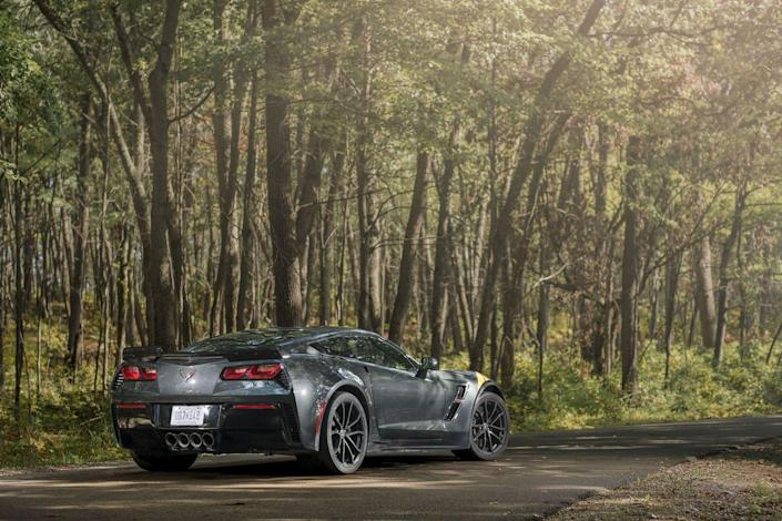 "<p>The <a href=""https://www.caranddriver.com/chevrolet/corvette"" rel=""nofollow noopener"" target=""_blank"" data-ylk=""slk:$66,590 Grand Sport"" class=""link rapid-noclick-resp"">$66,590 Grand Sport</a> pairs the body and wide-tire chassis of the supercharged Corvettes with the 460-hp powertrain of the base car. It is more engaging, more exciting, and worth every bit of the $10,000 it costs over the standard-issue Corvette. Stacking a blower on the V-8 makes <a href=""https://www.caranddriver.com/chevrolet/corvette-z06"" rel=""nofollow noopener"" target=""_blank"" data-ylk=""slk:the Z06 a 650-hp version"" class=""link rapid-noclick-resp"">the Z06 a 650-hp version</a> of the Grand Sport, and at $80,590, it falls under our newly raised $90,000 base-price cap.On track, either car will hold even the most skilled driver's attention. And the harder you push, the more the respect grows. But even around our 10Best street route there's joy in whomping around an empty set of curves at sane speeds, using but a tiny slice of the available grip. Still, there's no ignoring that the Corvette is a lot of car for public roads, but the fact that we can complain about unusable performance speaks to the Corvette's value. It delivers supercar or near-supercar numbers at merely a sports-car price.</p>"