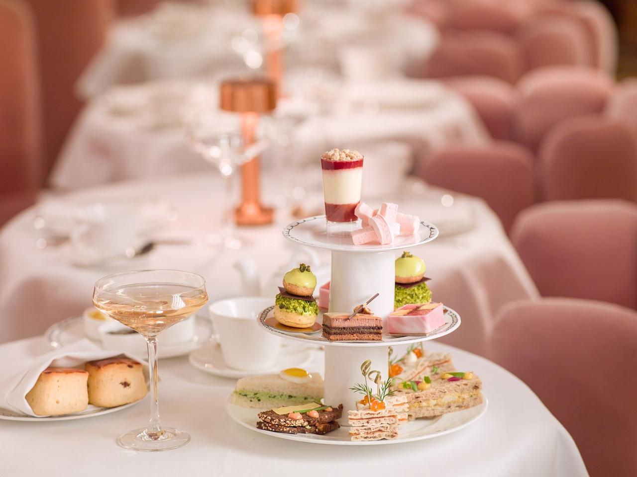 "<p><strong>Best for: </strong>Afternoon tea with friends </p><p><strong>What:</strong> London's prettiest restaurant makes an ideal place for a celebration with pals. The magic happens in the all-pink Gallery, lined with Brit artist David Shrigley's humerous prints. </p><p>A three-tiered cake stand appears holding delicate finger sandwiches, truffle croquets, beautiful slices of strawberry and hibiscus Battenberg and shot glasses of cheesecake. Next arrive scones and, finally, an enormous slice of Victoria sponge. Throughout the meal a tea sommelier (yep really) advises what type of tea complements each course,  or opt for bubbly if you want to liven things up. </p><p><strong>How much:</strong> From £49pp</p><p><a class=""body-btn-link"" href=""https://sketch.london"" target=""_blank"">BOOK HERE </a></p>"