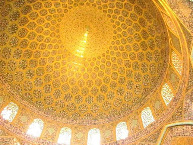 The fan-tailed peacock dome of Sheikh Lutf Allah Mosque