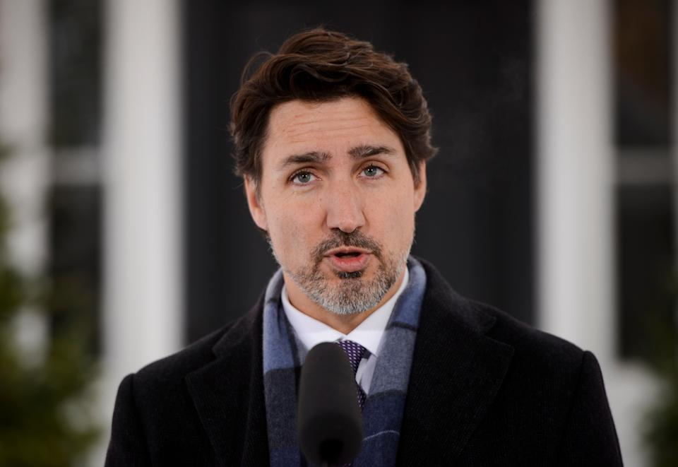 Prime Minister Justin Trudeau addresses Canadians on the COVID-19 situation from Rideau Cottage in Ottawa on March 24, 2020.  (Photo: Sean Kilpatrick/CP)