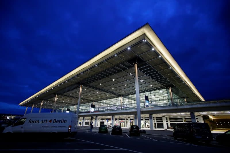 A general view of the new Berlin-Brandenburg Airport's building in Schoenefeld