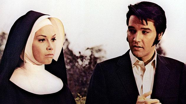 "Mary Tyler Moore and Elvis Presley in ""Change of Habit"" (1969)."