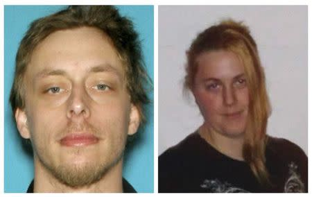 A combination photo shows Jerad Miller and Amanda Miller in undated handout photos