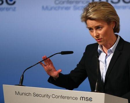 German Defence Minister von der Leyen speaks at the opening of the 53rd Munich Security Conference in Munich