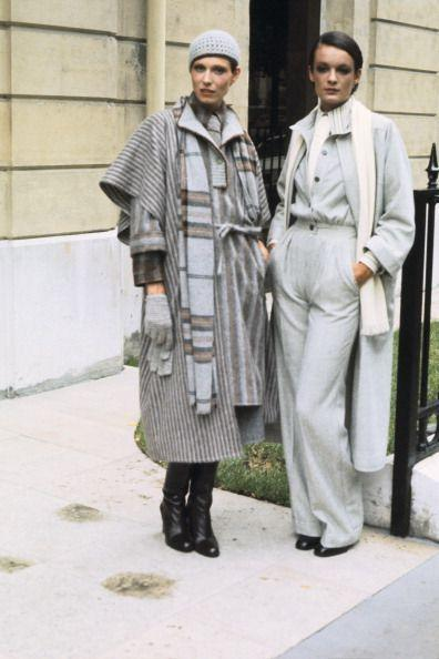 <p>Flares are very much still present (it is the '70s after all), this time combined with long wool jackets, scarves, and a beret to add a touch of sophisication. </p>