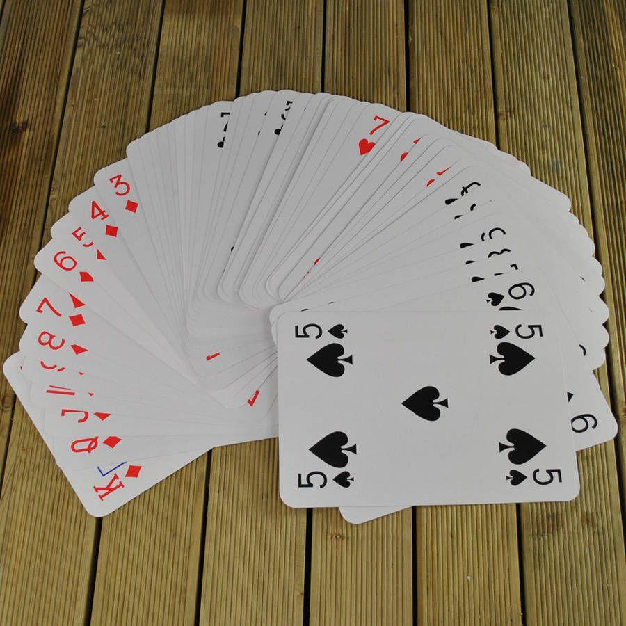 """<p>Play a variety of card games with this giant set.<br></p><p><strong>Giant Playing Cards by Garden Selections, £11.99, Notonthehighstreet</strong></p><p><a href=""""https://www.notonthehighstreet.com/selections/product/giant-playing-cards-game"""" rel=""""nofollow noopener"""" target=""""_blank"""" data-ylk=""""slk:BUY NOW"""" class=""""link rapid-noclick-resp"""">BUY NOW</a></p>"""