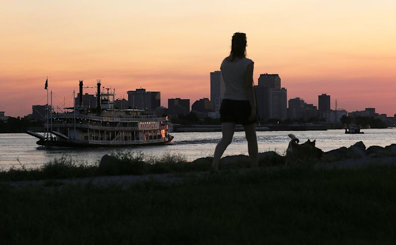 New Orleans is ringed by hundred of miles of levees to protect against flooding (AFP Photo/Mario Tama)