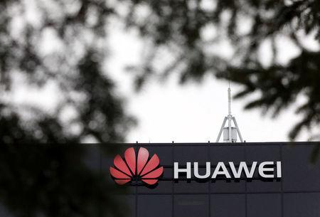 The Huawei logo is pictured outside their research facility in Ottawa, Ontario, Canada, December 6, 2018. REUTERS/Chris Wattie