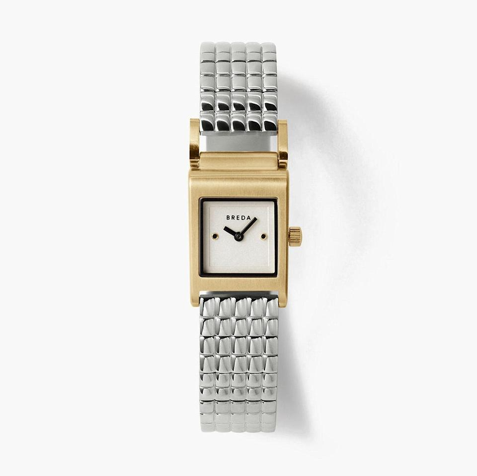 """If you want a distinctly 80s-style watch, this small-faced bracelet number is a flawless modern-day interpretation. $175, Madewell. <a href=""""https://www.madewell.com/breda-revel-gold-and-stainless-steel-bracelet-watch-M7428.html?color=GY0032"""" rel=""""nofollow noopener"""" target=""""_blank"""" data-ylk=""""slk:Get it now!"""" class=""""link rapid-noclick-resp"""">Get it now!</a>"""