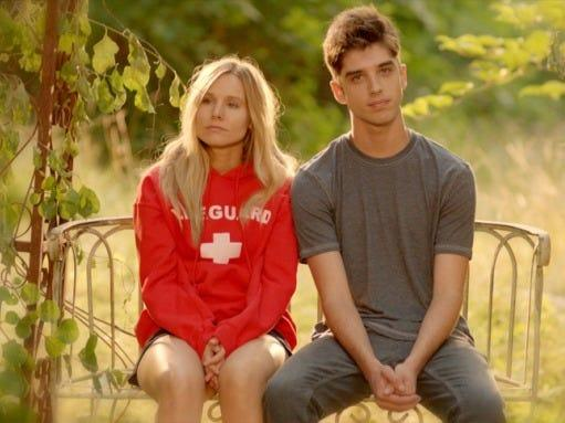 "Kristen Bell and David Lambert appeared together in ""The Lifeguard."""