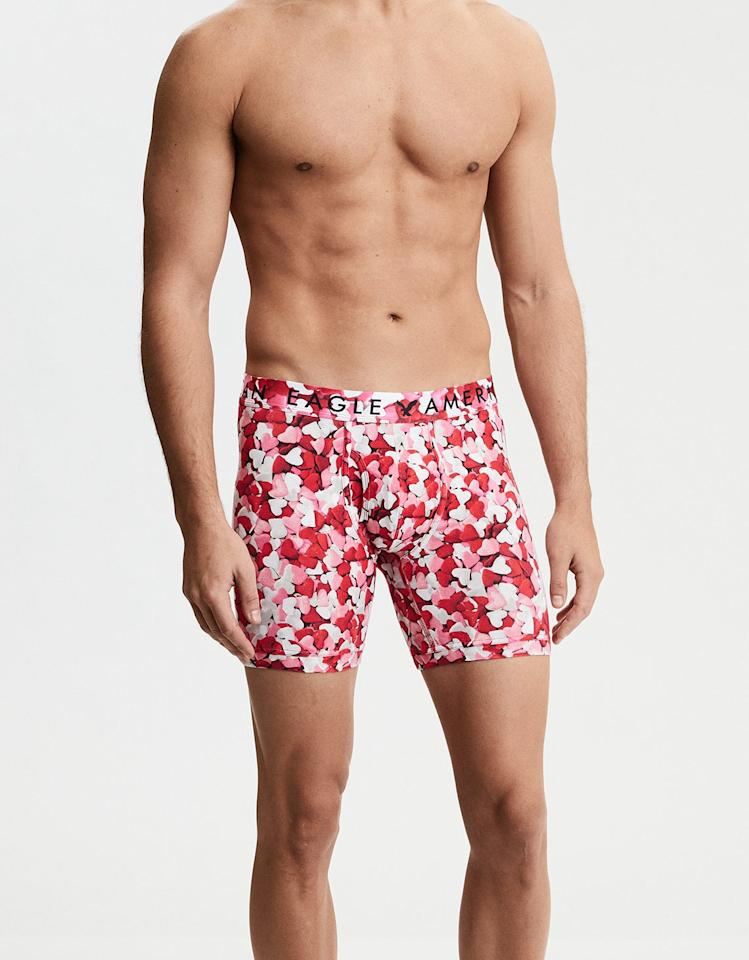 """<p>Get your guy in the Valentine's Day spirit with these <a rel=""""nofollow"""" href=""""https://www.popsugar.com/buy/Pink%20and%20Red%20Hearts%20Classic%20Boxer%20Briefs-411733?p_name=Pink%20and%20Red%20Hearts%20Classic%20Boxer%20Briefs&retailer=ae.com&price=13&evar1=tres%3Auk&evar9=45765406&evar98=https%3A%2F%2Fwww.popsugar.com%2Flove%2Fphoto-gallery%2F45765406%2Fimage%2F45765719%2FPink-Red-Hearts-Classic-Boxer-Briefs&list1=shopping%2Chumor%2Cmen%2Cgift%20guide%2Cunderwear%2Cvalentines%20day%2Cgifts%20for%20men&prop13=api&pdata=1"""" rel=""""nofollow"""">Pink and Red Hearts Classic Boxer Briefs</a> ($13).</p>"""