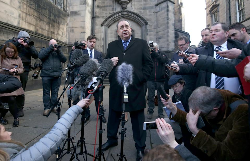 Alex Salmond after the case at the Court of Session (Jane Barlow/PA)