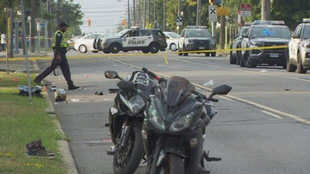 Toronto police are investigating after 39-year-old man has died following a collision on Caledonia Road on Sunday afternoon. (CBC - image credit)