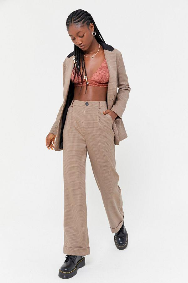 UO plaid tailored trouser pant. (Credit: Urban Outfitters)
