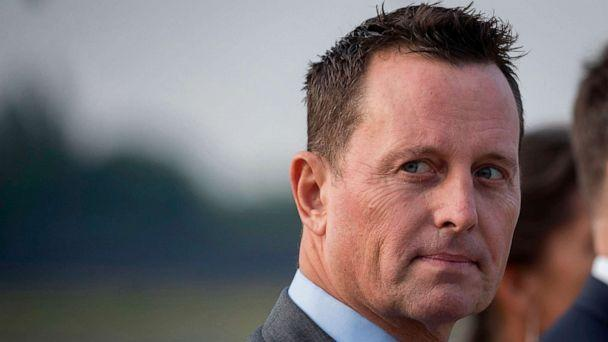 PHOTO: U.S. ambassador to Germany, Richard Grenell, awaits the arrival of the Secretary of State Pompeo at Tegel airport in Berlin, May 31, 2019. (Odd Andersen/AFP via Getty Images, FILE)