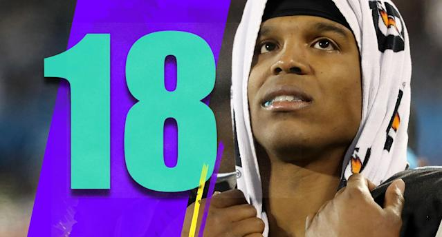 <p>The Panthers need to shut Cam Newton down for the season. His shoulder doesn't look anywhere near right. He's tried to fight through it, and credit to him for that, but the Panthers' season is over and Newton's should be too. (Cam Newton) </p>