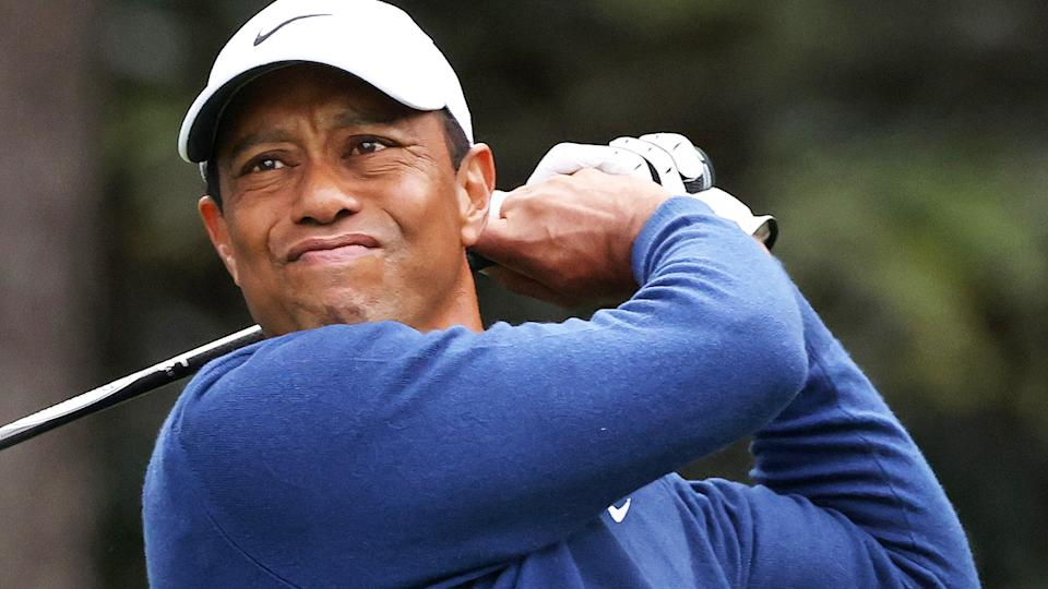 While a professional comeback is likely off the table, Tiger Woods reportedly hopes to play some golf as he continues to recover from a serious car accident back in February. (Photo by Rob Carr/Getty Images)