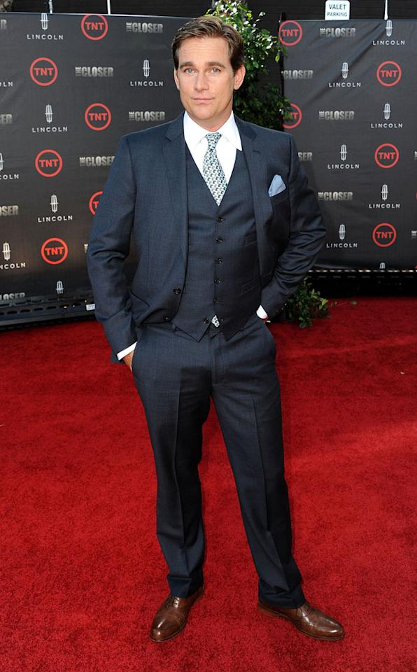 """Phillip P. Keene attends the special fan screening of TNT's """"The Closer"""" series finale held at The Roosevelt Hotel on August 7, 2012 in Hollywood, California."""