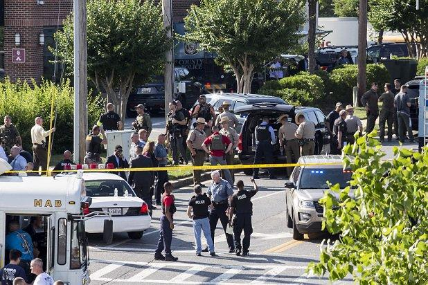 Suspected newsroom shooter charged with 5 counts of first-degree murder
