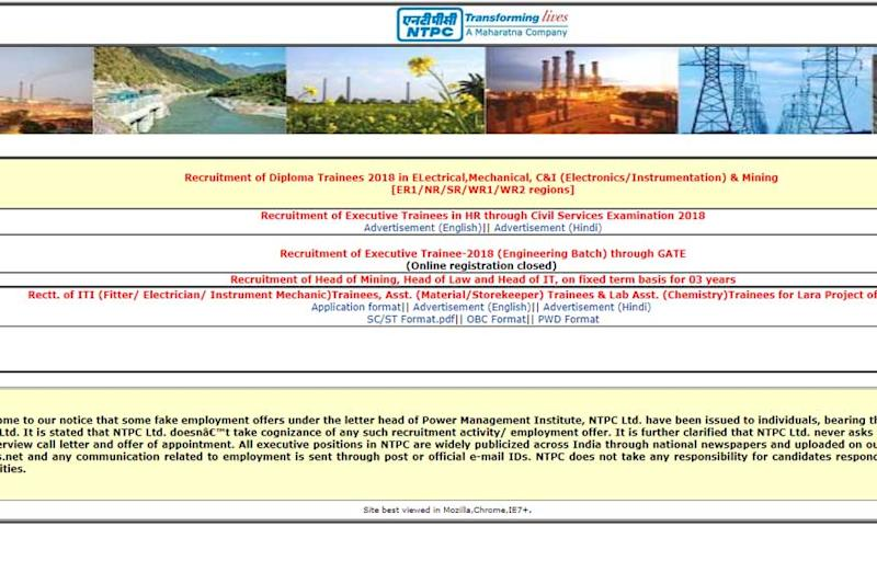 NTPC Recruitment 2018: 362 Diploma Trainee Posts, Apply before 9th May 2018