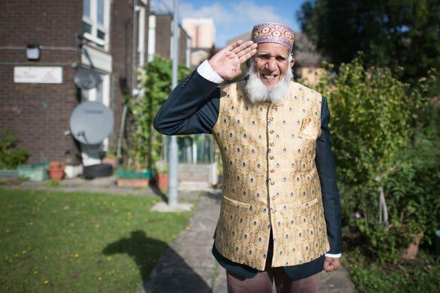 Mr Dabirul Islam Choudhury who has been awarded the OBE for charitable service during Covid-19, photographed at his home in Bow, east London